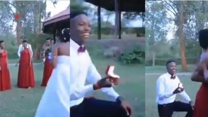 Man Propose To His Girlfriend At His Friend's Wedding(Video)