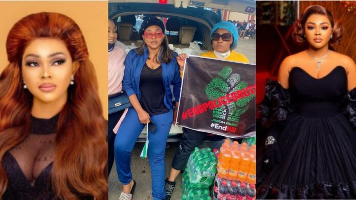 "#EndSars protest would give more husband than Shiloh this year,don't stay home""-Mercy Aigbe advice single ladies (photos)"