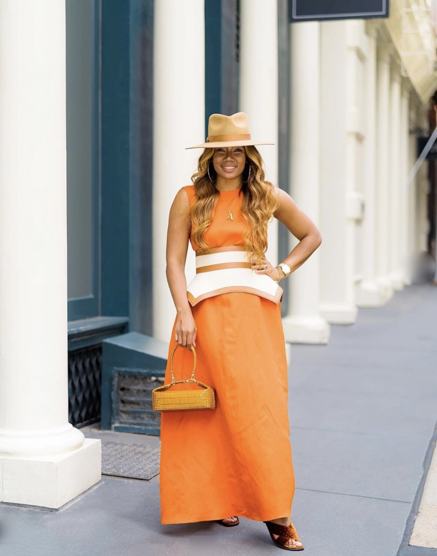 orange maxi dress obi belt trend stylerave