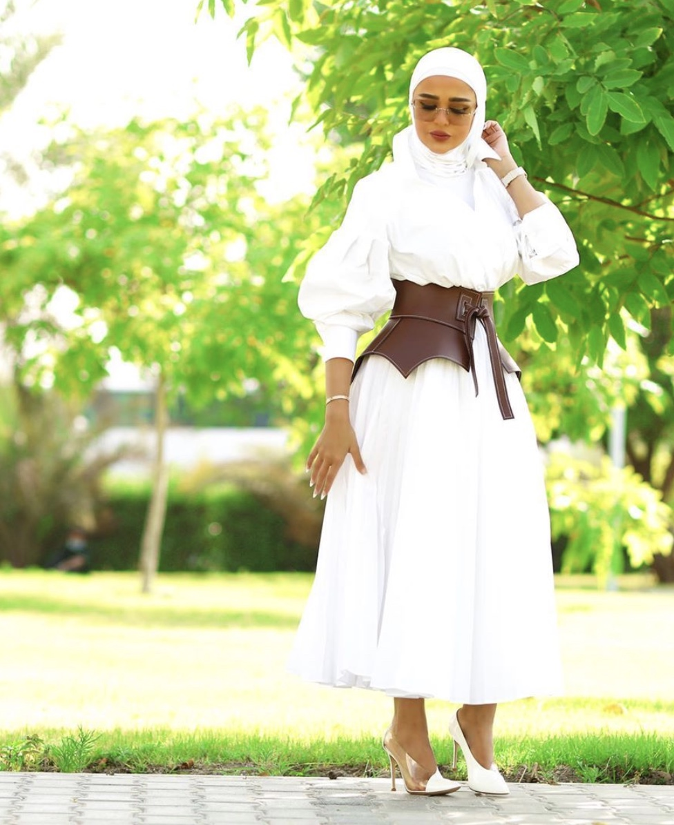 white maxi dress hijab fashion stylerave