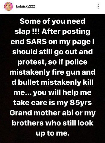 Why Bobrisky Did Not Join #EndSARS Protest