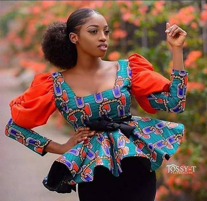 lady rocking ankara peplum top