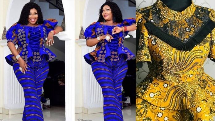30 Classic Ankara Peplum tops styles for all occasion