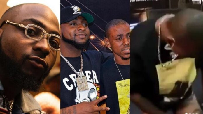 Davido Visits and gifts Diamond chain worth over N6 million to fan who tattooed his Album Name on his body