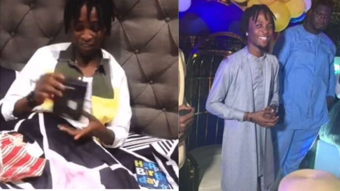 Laycon ask for help on how to use a s*x toy after he receives it as a Birthday gift from fans(video)