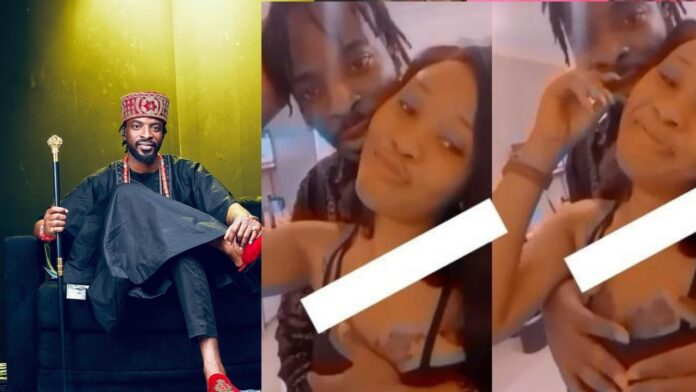 Nigerian singer,9ice caught fondling a lady's boobs in an hotel barely a year after marriage(video)
