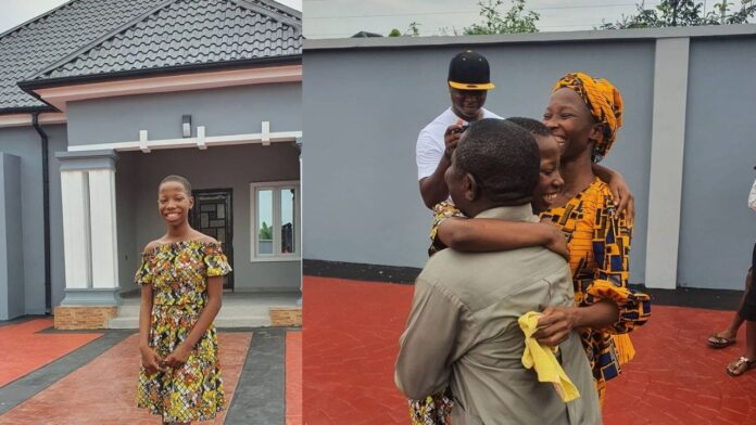 Comedienne Emmanuella builds her mum a House for Christmas(photos)