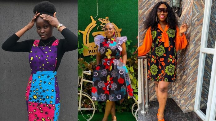 30 Beautiful and Gorgeous Ankara short Gown Styles