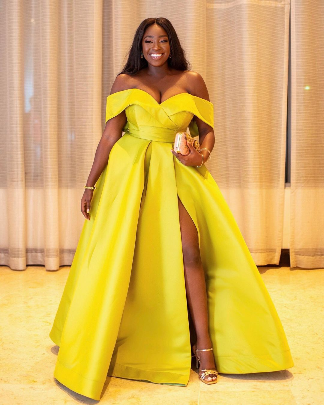 Exotic Chartreuse Gown