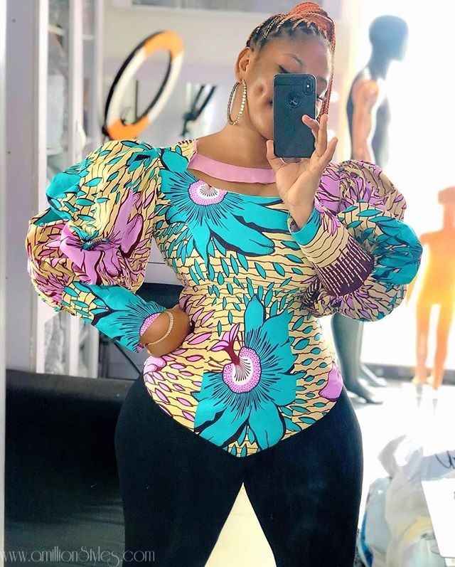 These 6 Stylish Ankara Tops Will Look Good On You