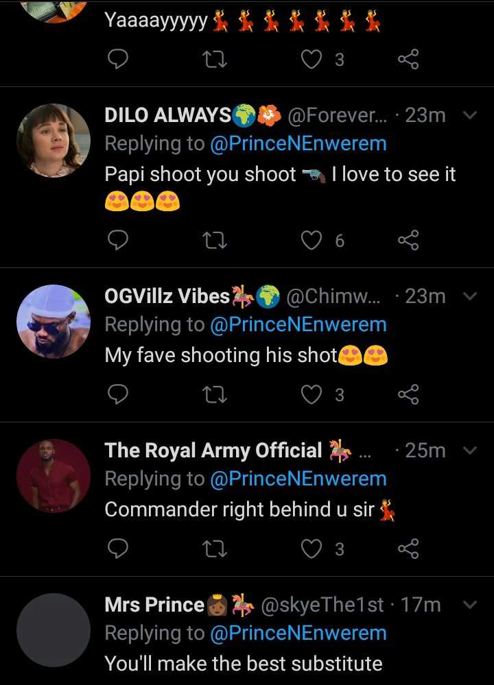 Prince Ewenrem shoots shot at Ebuka Obi-Uchendu as substitute on TV show