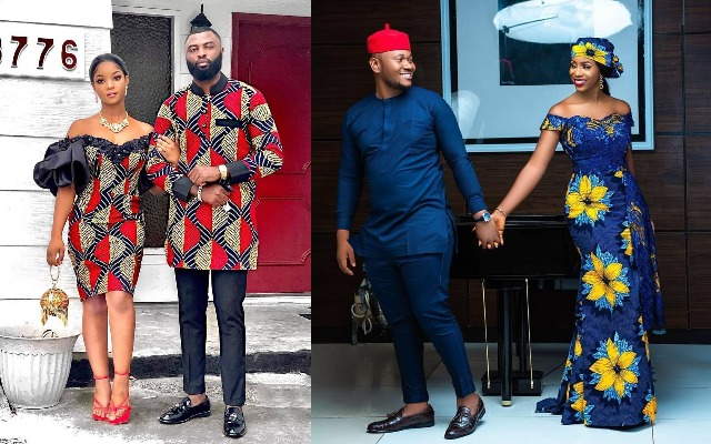 10 PICTURES: Ankara Styles For Couples And Pre-Wedding Photoshoots
