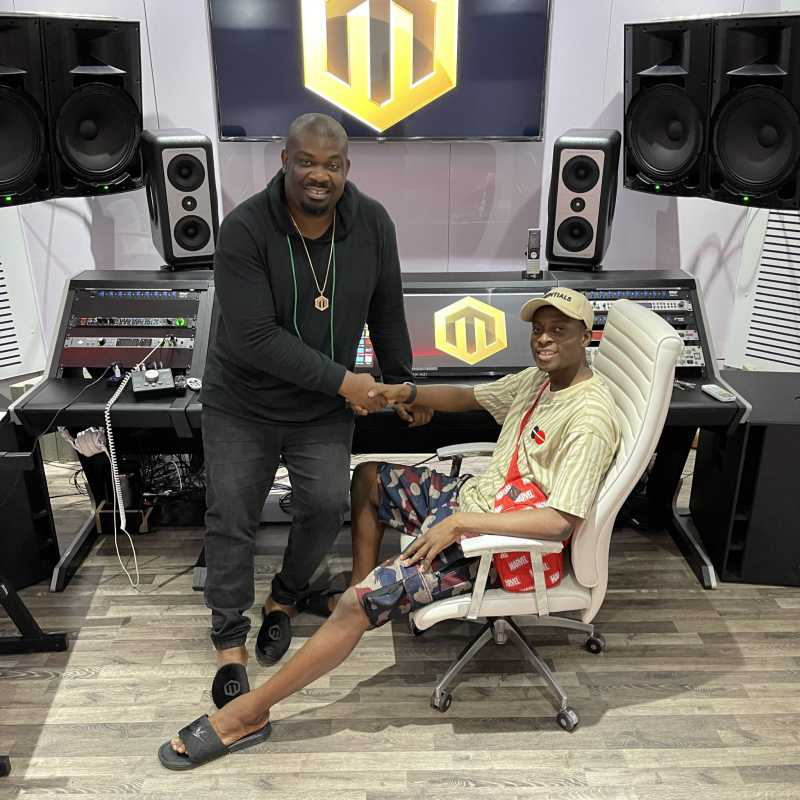 Reactions as comedian, Sydney Talker signs Don Jazzy