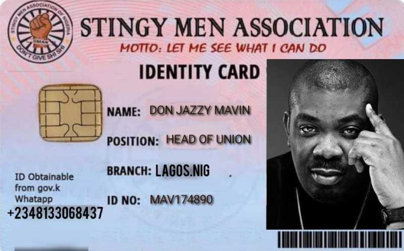 Don Jazzy joins trend, completes registration for 'Stingy Men Association' SMAN