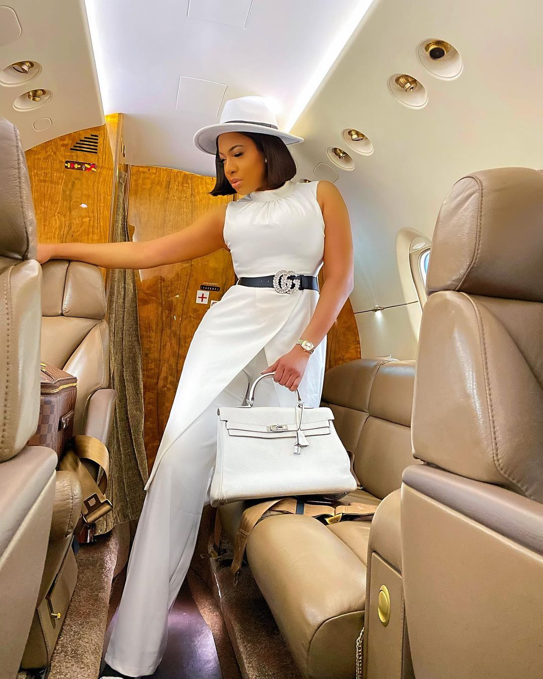 Chika Ike Makes Enviable Statement In White