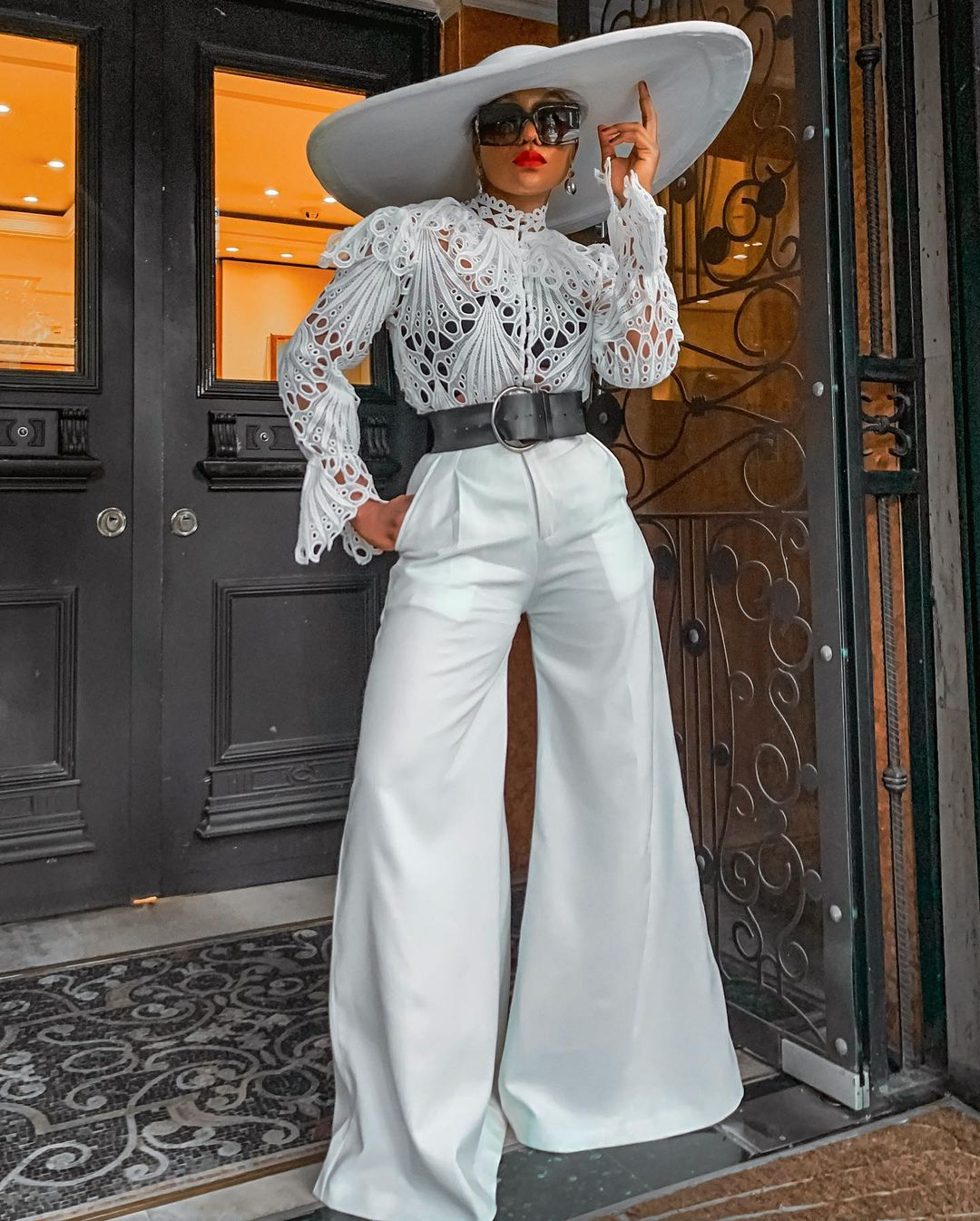 Jennifer Oseh Shows Glamour In All White Outfit