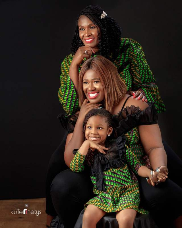 """Three generations of beauty"" - Warri Pikin shares photo of herself, mother and daughter"