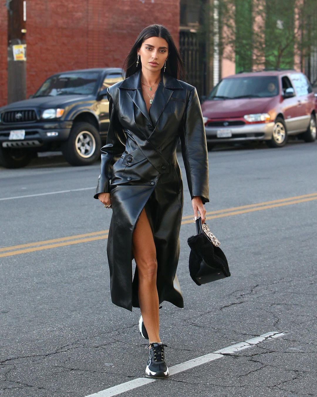 Nicole Williams Sets A Sassy Leather Trend