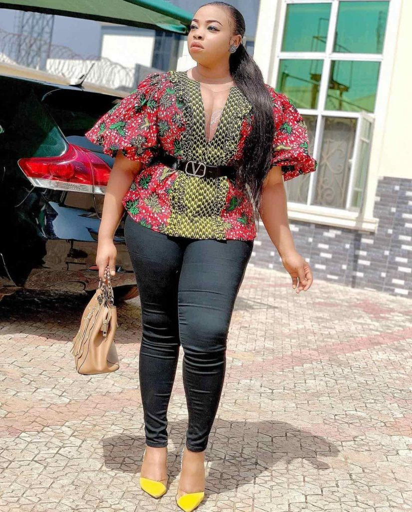 10 PHOTOS Magnificent Ankara Tops For Ladies - Latest African Fashion Designers 2021