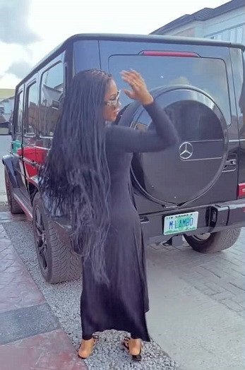 Reality star, Mercy Eke acquires new G-Wagon Mercedes Benz (Video)