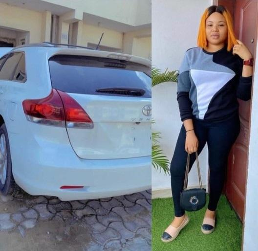 """""""What of your mama?"""" Reactions as actor, Nosa Rex gifts his wife a new car"""