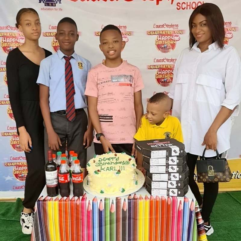 Actor, Yul Edochie celebrates 13th birthday of his second son (Photos)