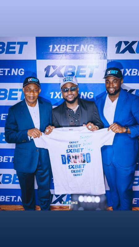 Davido bags partnership deal with sport betting company, 1xBet