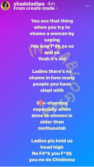 Shade Ladipo number men slept
