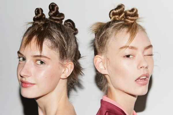 Marc Jacob's models wearing Bantu knots during his SS15 runway exhibition